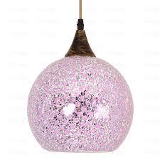romantic purple glass large dinning room pendant lights