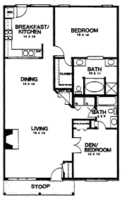 two bedroom house plans home plans homepw03155 1350