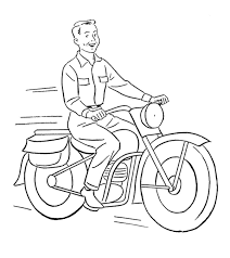 Top 25 truck coloring pages: Motorcycle Coloring Pages Free Printable For Kids