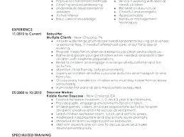Babysitter Resume Template Delectable Nanny Resume Template Example Sample Babysitting Cv Download
