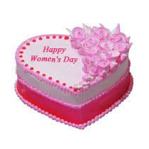 womens day strawberry cake