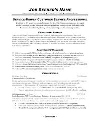 Resume Example For It Examples Of Customer Service Skills Excellent