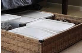 Ikea Under Bed Storage Wicker Baskets/boxes