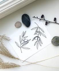 Irka Kondrashova Tatoo Ideas черная татуировка оливковые ветви