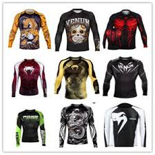 Details About Venum Training Camp Long Sleeve Mens Mma Rashguard Shirt Black Green