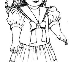 American Girl Doll Coloring Pages To Free Jokingartcom American