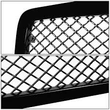 Amazon for dodge ram diamond mesh front upper bumper grille guard glossy black br be 2nd gen automotive