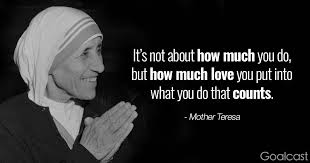 Mother Teresa Quotes On Love