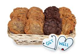 send the gift of a get well gourmet cookie basket to help with reery