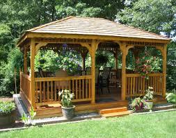 Garden & Landscape:Beautiful White Garden Gazebo Design Architecture Gazebo  With Small Backyard Landscaping