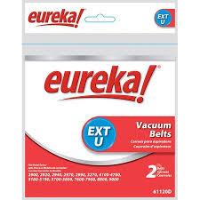 Vacuum Cleaner Belt Size Chart Eureka Type U Vacuum Cleaner Belt Set Of 2