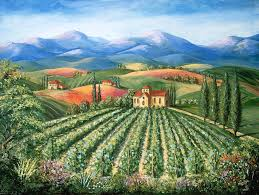 europe painting tuscan vineyard and abbey by marilyn dunlap on tuscan vineyard wall art with tuscan vineyard and abbey painting by marilyn dunlap