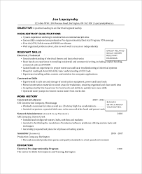 9 Sample Electrician Resumes Sample Templates