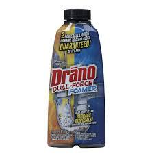 How To Clean Washing Machine Drain Drano 17 Oz Foaming Liquid Drain Cleaner 014768 The Home Depot