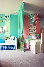Teenage Girls Sharing Bedroom Furniture Design features Green Long