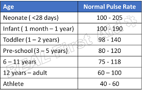 Heart And Pulse Rate Chart Ideal Pulse Rate Heart Rate Zones