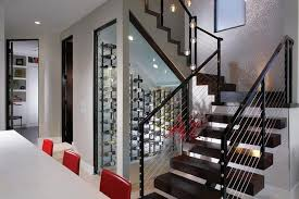 custom wine cellars whats hot jigsaw design group wine closet under stairs