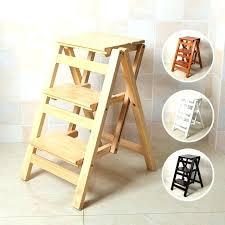 folding kitchen step stool wood