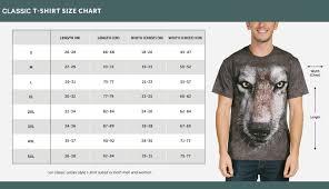 The Mountain Shirt Size Chart Size Chart The Mountain Clothing Natures Habitat