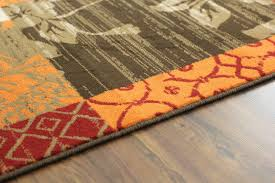 brown and burnt orange area rug home ideas collection easy