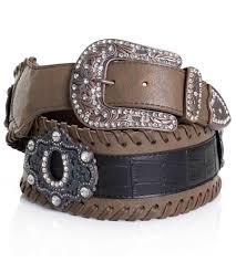 kamberley womens wide waist horseshoe concho belt brown 114816 jpg