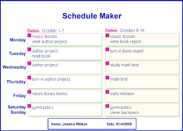 schedule creater homework schedule maker online