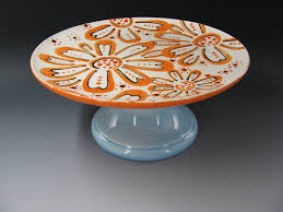 simple pottery designs cake plate simple to do