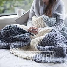 Chunky Knit Blanket Pattern Amazing Ravelry Mega Cabin Blanket Pattern By The Woven