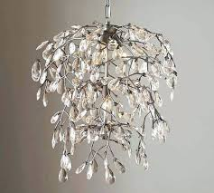 pottery barn clarissa chandelier crystal drop round glass petite