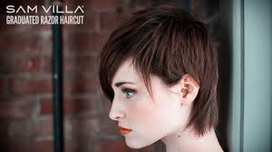 Short Razor Cut Hairstyles Short Razor Haircut Tutorial How To Create Scattered Graduation