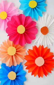 Folding Paper Flower Accordion Folded Flowers Origami Paper Origami And Flower