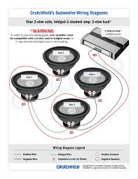 subwoofer wiring diagrams four subwoofers 4 svc 2 ohm 2ch