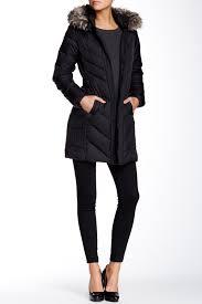 Larry Levine Faux Fur Trim Jacket Nordstrom Rack