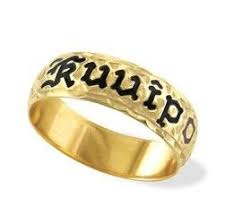 14k yellow gold hawaiian heirloom jewelry ring with personalized name sizes 7 11 75 available