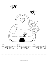 Bee Worksheets Free Worksheets Library | Download and Print ...