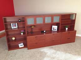 to enlarge image 13 lateral file credenzas with closed hutch bookshelf jpg