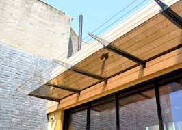 Wood Awnings apartmentsglamorous wood paneling steel and canopies modern 2605 by guidejewelry.us