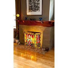 glass fireplace screen style stained glass fireplace screen glass fireplace screen base