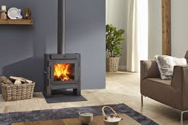 ... Wood Burning Fireplace Contemporary Closed Hearth Floor Wood Mounted  Jannik Medium Low By Dik Geurts Standing
