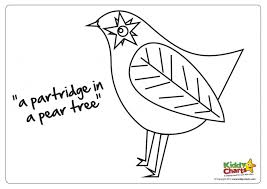 Small Picture Partridge In A Pear Tree Coloring Page