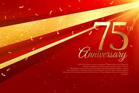 Anniversary Template 75th Anniversary Celebration Card Template Download Free Vector