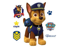 chase fathead jr large officially licensed paw patrol removable wall decal wall decal