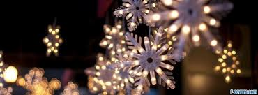 christmas snowflake lights Facebook Cover timeline photo banner for fb