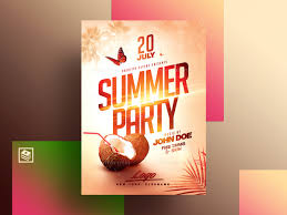 Poster Psd Design Summer Poster Psd By Rome Creation On Dribbble