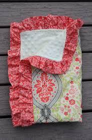 ruffled edging baby blanket