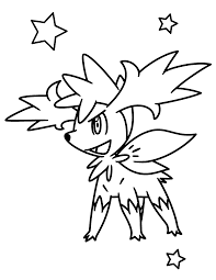 Pokemon Shaymin Coloring Pages Color Bros