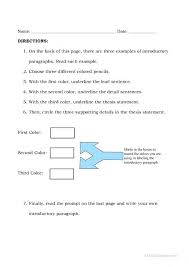 How To Write A Paragraph Worksheet Paragraph Writing