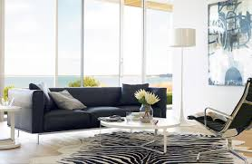 Zebra Rug Living Room Edelmanar Leather Zebra Cowhide Rug Design Within Reach