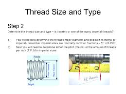 Imperial Thread Size Chart Screw Thread Identification Ppt Video Online Download