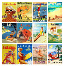 Travel Calendar Wall Calendar 2019 13pages A4 Vintage Travel Posters Pin Up Summer